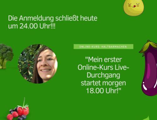 Webinar über meinen ersten Online-Kurs: Beeren, Obst und Gemüse Haltbar machen!